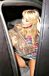 Alex Curran stretched legs upskirt