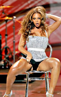 Beyonce shows spread legs upskirt