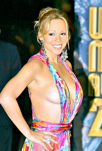 Mariah Carey big tits downblouse