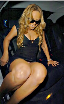 Mariah Carey fat legs upskirting