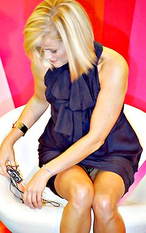 Blonde Reese Witherspoon upskirt