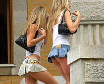 Extra mini skirts