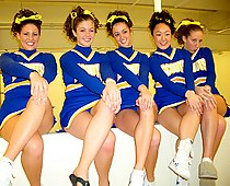 High school cheerleader upskirts