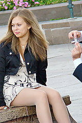 Pantyhose upskirts oops real life unstaged