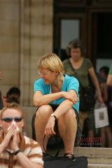 Sitting upskirt milf