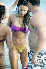 sheer wet bikini
