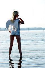 2155 Sexy Irina white panty upskirt